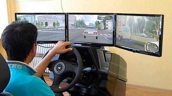Виртуальное вождение в автошколе